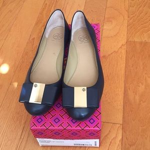 Tory Burch Chase Ballet Nappa Leather Perfect Navy